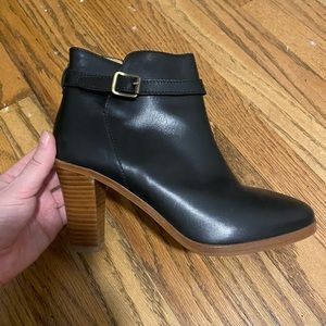 A.P.C. Black Leather Ankle Boots - Size 40